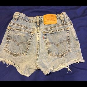 Vintage high waisted Levi shorts